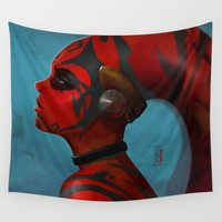 darth Wall Tapestries featuring DARTH TALON by Yvan Quinet