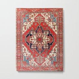 Heriz Azerbaijan Northwest Persian Carpet Print Metal Print