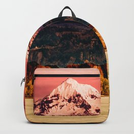 Sunset Snowy Mountain - Mt. Hood Backpack