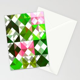 Pink Roses in Anzures 5  Abstract Triangles 1 Stationery Cards