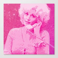 dolly parton Canvas Prints featuring Dolly Parton by D Arnold Designs