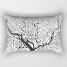 Washington Map Gray Rectangular Pillow