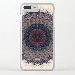 Modern Mandala art Clear iPhone Case