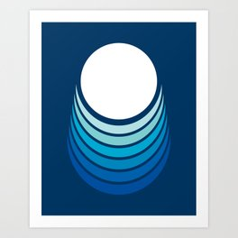 Ocean Crescent Art Print