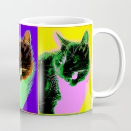 Poster with cat in pop art style Coffee Mug