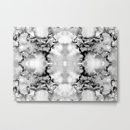 Design 94 abstract grayscale Metal Print