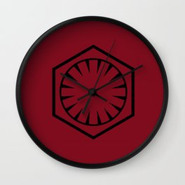 The First Order on Crimson Red Wall Clock