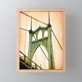 ST. JOHNS BRIDGE - PORTLAND Framed Mini Art Print