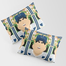 Baseball Blue Pinstripes - Deuce Crackerjack - Amy version Pillow Sham