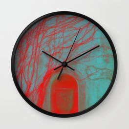Vessel, Veins and Vines Gothic Garden Wall Digital Photograph Wall Clock