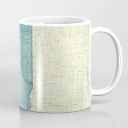 Nebraska State Map Blue Vintage Coffee Mug