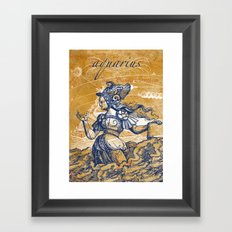 aquarius | wassermann Framed Art Print