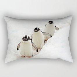 Gentoo Penguins on a Fishing Trip Rectangular Pillow