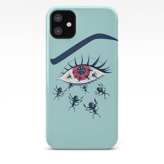 Creepy Red Eye With Ants by borianagiormova