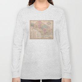 Vintage Map of Washington DC (1857) Long Sleeve T-shirt