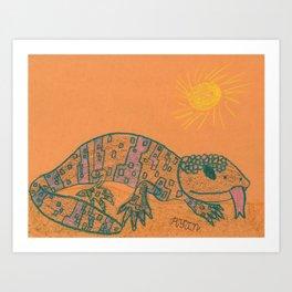 Gila Monster Art Print