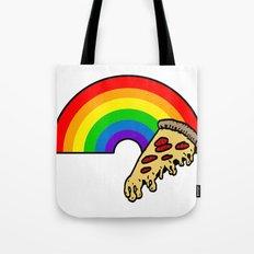 pizza rainbow Tote Bag