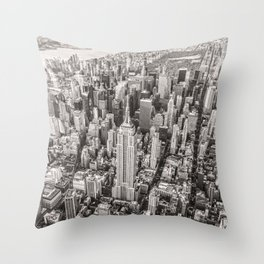 New York City Grey Throw Pillow