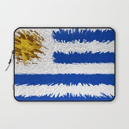 Extruded flag of Uruguay Laptop Sleeve