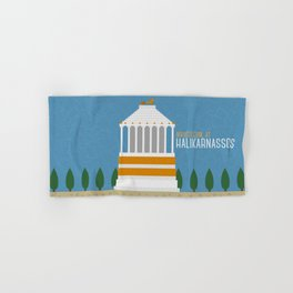 World Wonder: Mausoleum at Halikarnassos Hand & Bath Towel