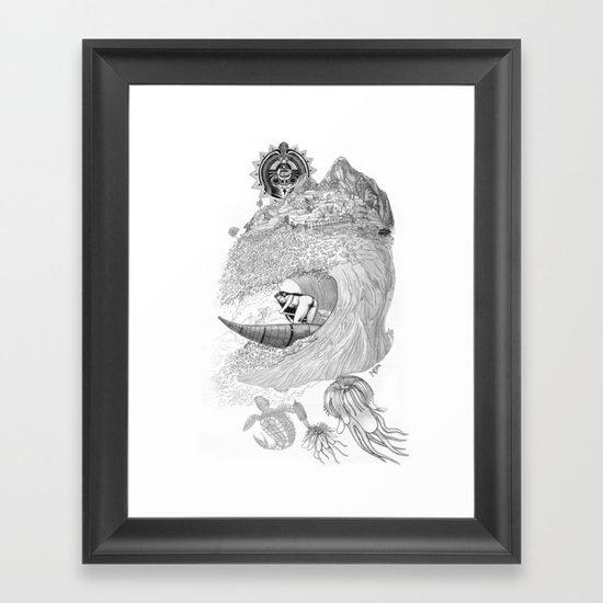 Machu Qun Tiksi Wiraqucha Framed Art Print