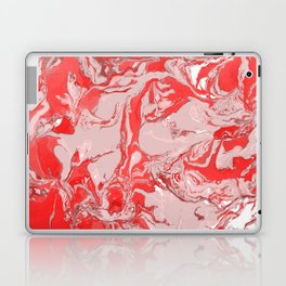 Red and white Marble texture acrylic Liquid paint art Laptop & iPad Skin
