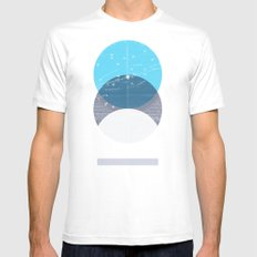 Eclipse IV MEDIUM White Mens Fitted Tee
