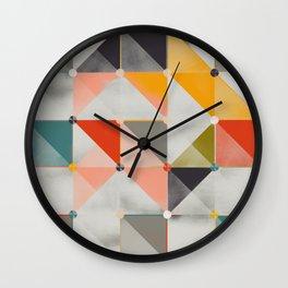 concrete geometry Wall Clock