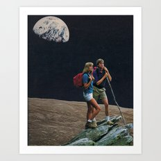 moon explorers Art Print