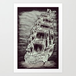 Caleuche Ghost Pirate Ship Variant Art Print