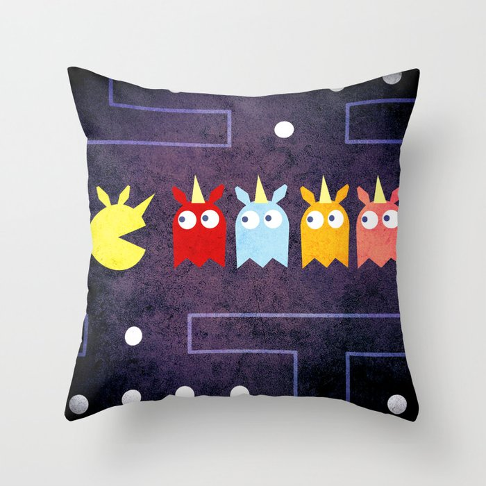 Pac Unicorn Throw Pillow