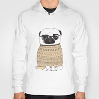 pug Hoodies featuring Pug  by Phillippa Lola