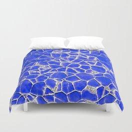 Blue broken glass texture Duvet Cover