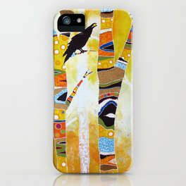 Raven Hanging the Sun iPhone Case