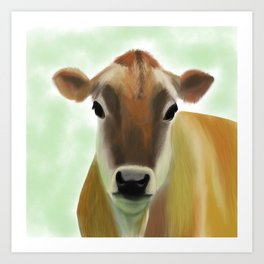 The Jersey - the prettiest cow in the world Art Print