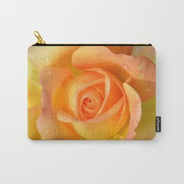 Bright Yellow Rose Carry-All Pouch