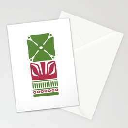 Nordic Green Flower Stationery Cards