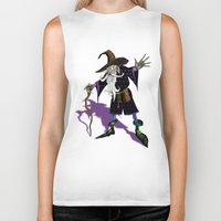 wizard Biker Tanks featuring Wizard by Noughton