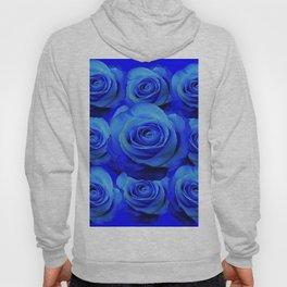 AWESOME BLUE ROSE GARDEN  PATTERN ART DESIGN Hoody
