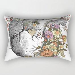 Heart With Flowers Rectangular Pillow