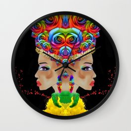 Blessed Twice Wall Clock