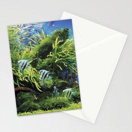 Freshwater Angelfish aquarium Stationery Cards