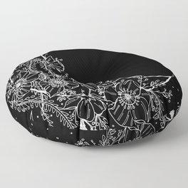 The Flower Moon; Crescent Moon; Feathers; Dream Catcher; Chalk Art Floor Pillow