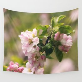 Apple blossom after Rain Wall Tapestry