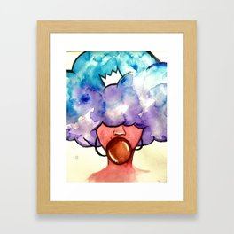 Bubble Gum Afro Framed Art Print