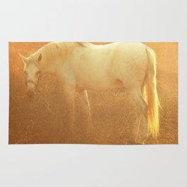 Horse and autumn field Rug