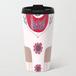 Scandinavian Winter Pattern Beige #society6 #buyart Travel Mug