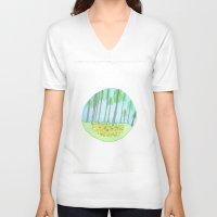 michigan V-neck T-shirts featuring Michigan  by karleegerrand