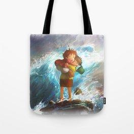 girl in the sea Tote Bag