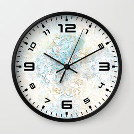 Feather peacock #12 Wall Clock